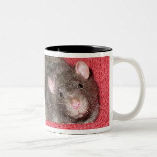 Cute Rat Two-Tone Coffee Mug