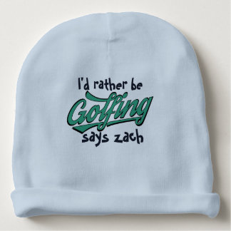 Cute Rather Be Golfing Custom Baby Cotton Beanie