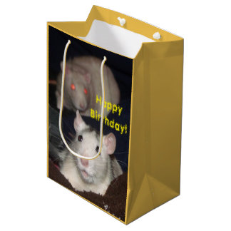 cute rats Birthday gift bag