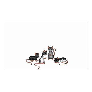 cute Rats business cards Business Card Templates