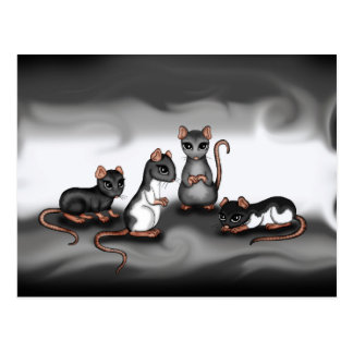 cute Rats Postcard