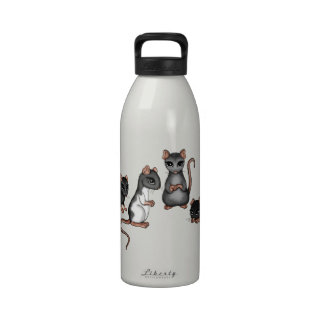 cute Rats Reusable Water Bottles