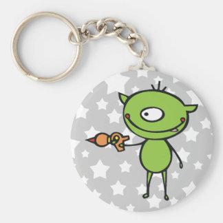 Cute Ray Gun Alien Keychain