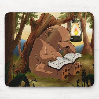 Cute Reading Bear Mouse Pad