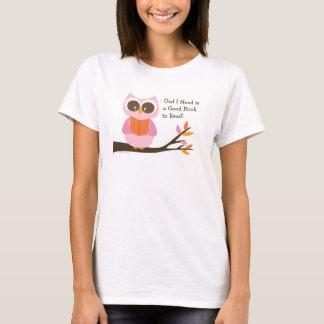 Cute Reading Owl T-Shirt