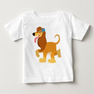 Cute Ready Cartoon Afghan Hound Baby T-Shirt