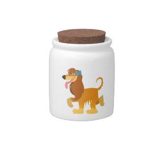 Cute Ready Cartoon Afghan Hound Candy Jar