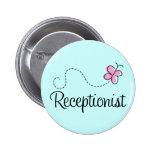 Cute Receptionist Button