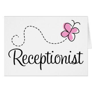 Cute Receptionist Card