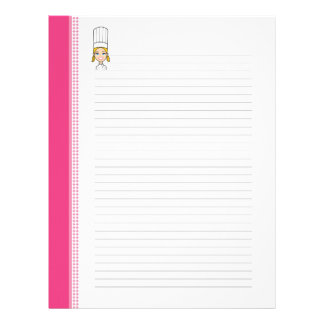 Cute Recipe Pages for Kitchen Binders Letterhead