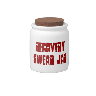 Cute Recovery Swear Jar Spare Change Bank Candy Jar