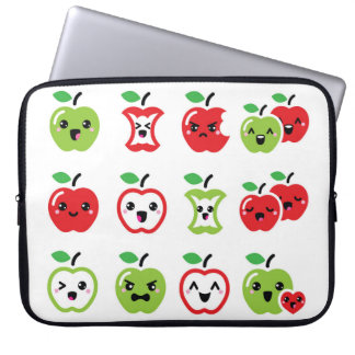 Cute red and green kawaii apple case
