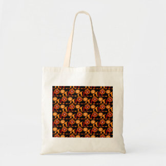 Cute Red and Orange Lions Jungle Pattern Tote Bags