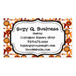 Cute Red and Orange Lions Jungle Pattern White Double-Sided Standard Business Cards (Pack Of 100)