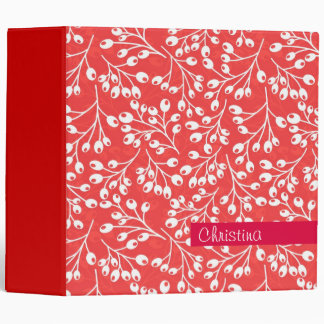 Cute red and white autumn berries binder
