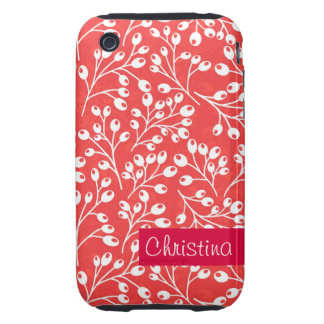 Cute red and white autumn berries iPhone 3 tough cover
