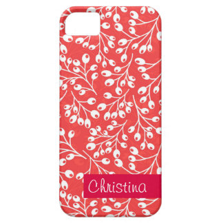Cute red and white autumn berries iPhone SE/5/5s case