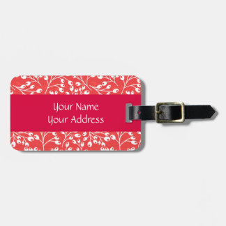 Cute red and white autumn berries bag tags
