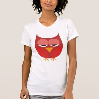 Cute Red And Yellow Cartoon Owl