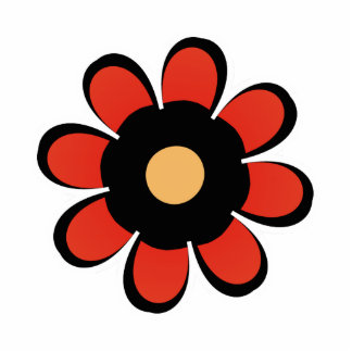 Cute red and Yellow Flower Magnet