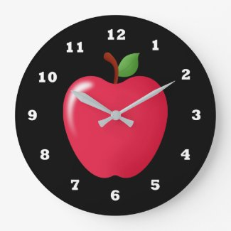 Cute Red apple fruit home kitchen decor clock