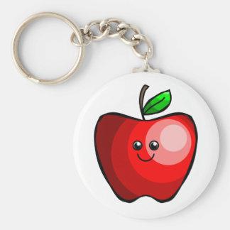 Cute Red Apple Keychain