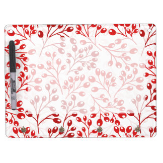 Cute red autumn berries dry erase board with keychain holder