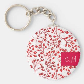 Cute red autumn berries keychain