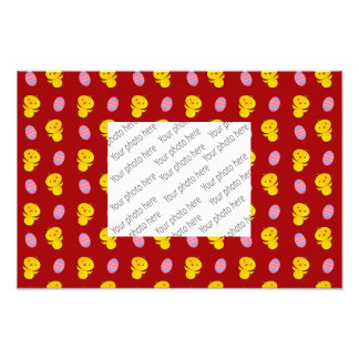 Cute red baby chick easter pattern photograph