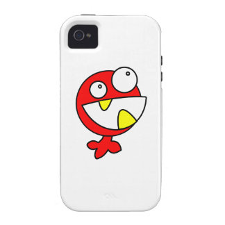 Cute Red Baby Monster Case-Mate iPhone 4 Cover