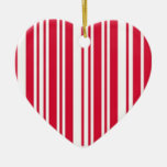 Cute Red Barcode Valentine Ornament