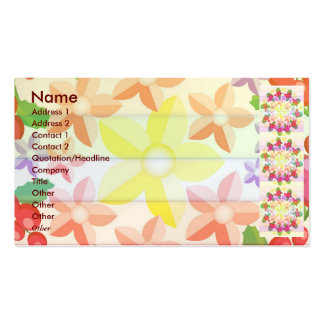 Cute Red Berry Garland Pattern Double-Sided Standard Business Cards (Pack Of 100)