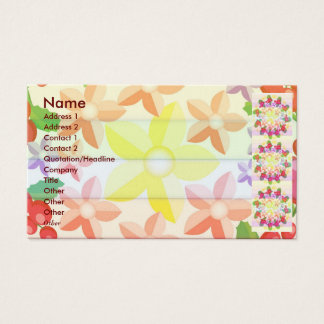 Cute Red Berry Garland Pattern Business Card