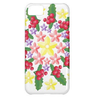 Cute Red Berry Garland Pattern Case For iPhone 5C
