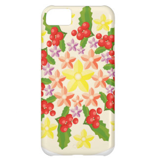 Cute Red Berry Garland Pattern iPhone 5C Cases