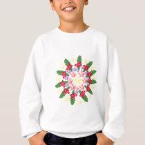 Cute Red Berry Garland Pattern Sweatshirt