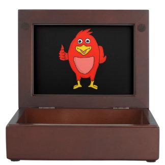 Cute red bird design custom keepsake box