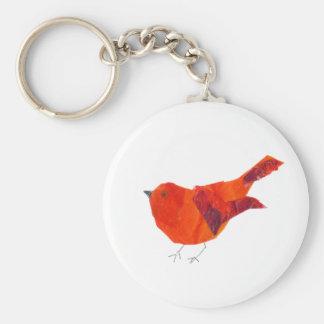Cute Red Bird Keychain