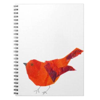 Cute Red Bird Spiral Notebook