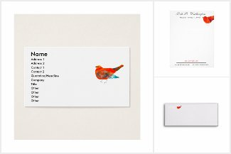 Cute RED Bird studio 236