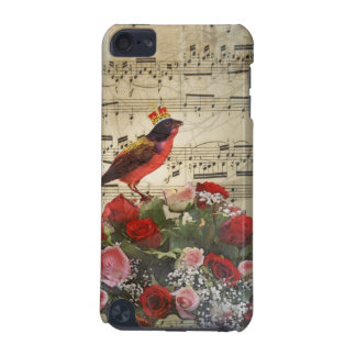 Cute red bird & vintage music sheet iPod touch (5th generation) case