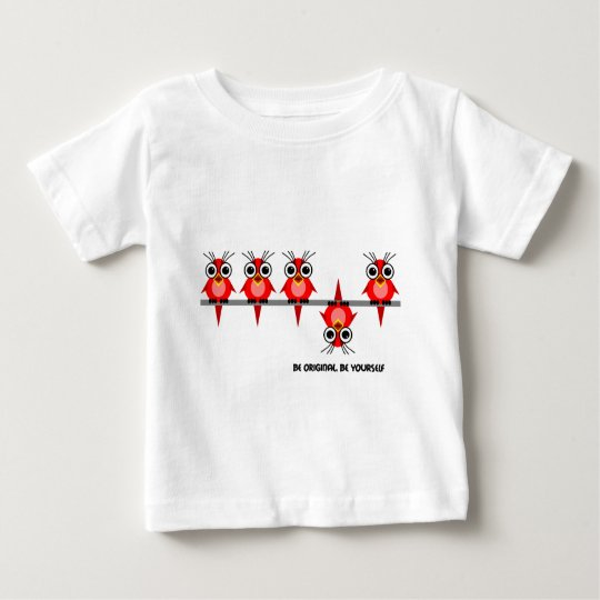 cute red birds baby T-Shirt