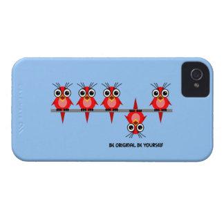 cute red birds Case-Mate iPhone 4 case