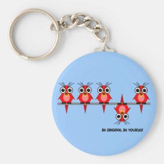 cute red birds key chain