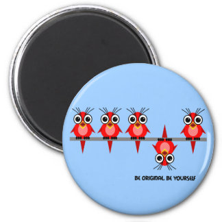 cute red birds magnet