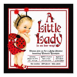 Cute Red Black Ladybug Baby Shower Card