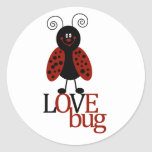 "Cute Red & Black Ladybug ""LOVE BUG"" stickers"