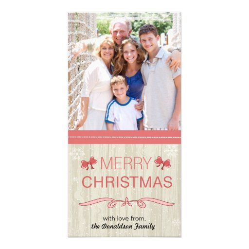 Cute red bows -holiday photocards photo cards