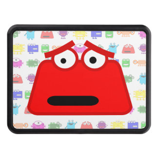 Cute Red Cartoon Monster Hitch Cover