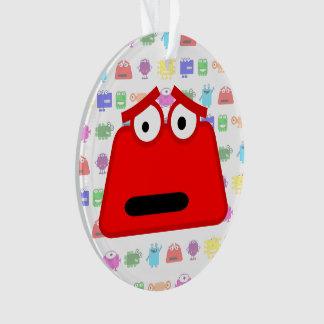 Cute Red Cartoon Monster Ornament